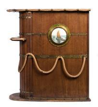 A nautical themed wooden cocktail bar, English, circa 1920
