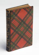 A Tartanware gilt edged bound book - The Lady of the Lake by Sir Walter Scott