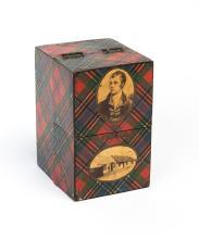 A Tartanware miniature poetry book case  Scottish, circa 1880