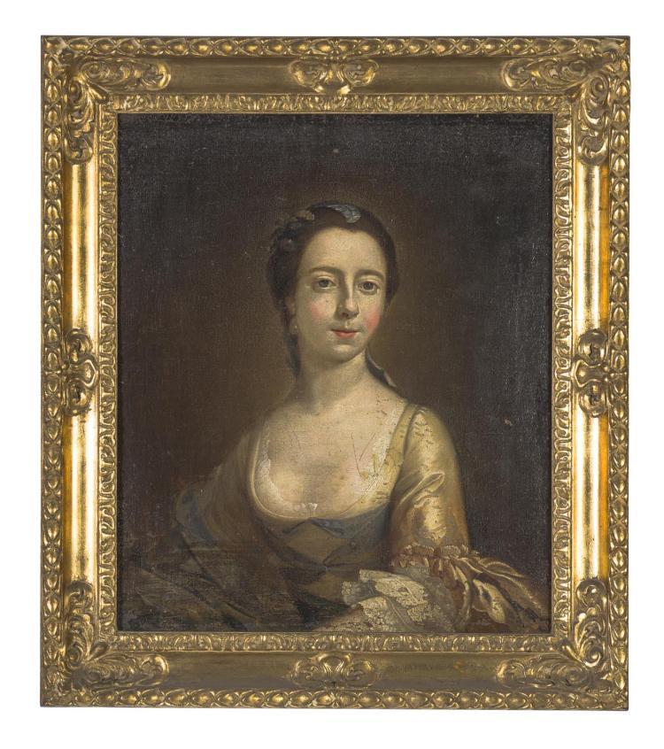 ENGLISH SCHOOL (19TH CENTURY)(Portrait of a Lady)oil on canvas64 x 55 cm