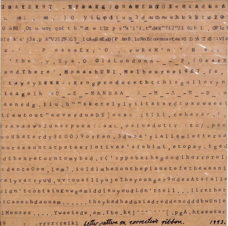 PETER ATKINS (BORN 1963) Letter Pattern on Corrective Ribbon 1993 mixed media