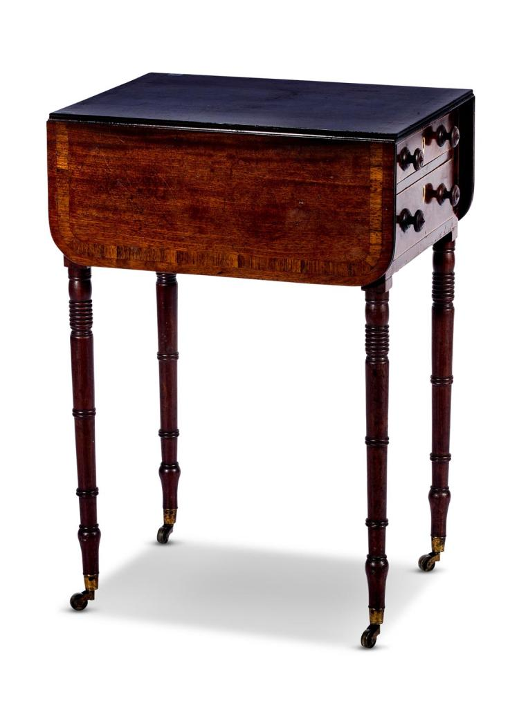 A Regency mahogany pembroke table, English, 19th century