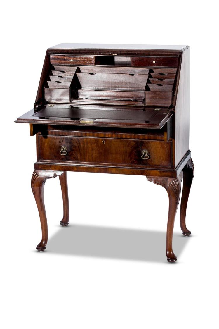An Edwardian mahogany ladies fall front writing desk, English, 20th century