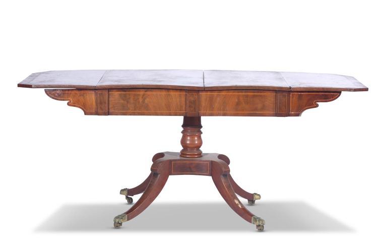A mahogany sofa table, English, 19th century