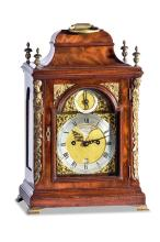 An English bracket clock, Thomas Hunter Junior. Verge 8 day striking and repeating movement, English circa 1780PROVENANCEAnthony Woodburn, Leigh, Kent