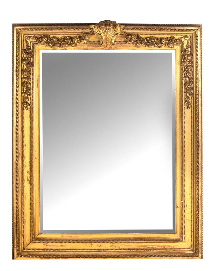 A gilt framed over mantel mirror, English, 19th century
