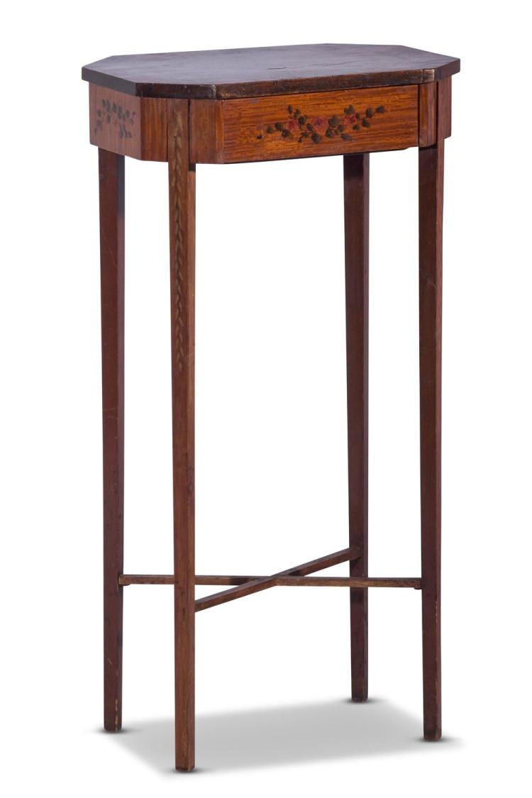 An Edwardian painted side table, English, early 20th century73 cm high