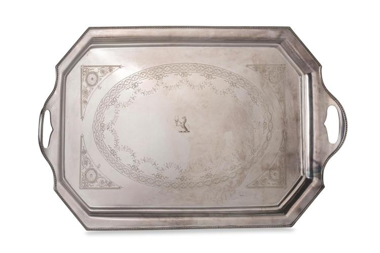 A Fairfax and Roberts silver plated tray, English, early 20th century