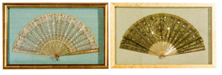 Two framed fans, English, 19th century