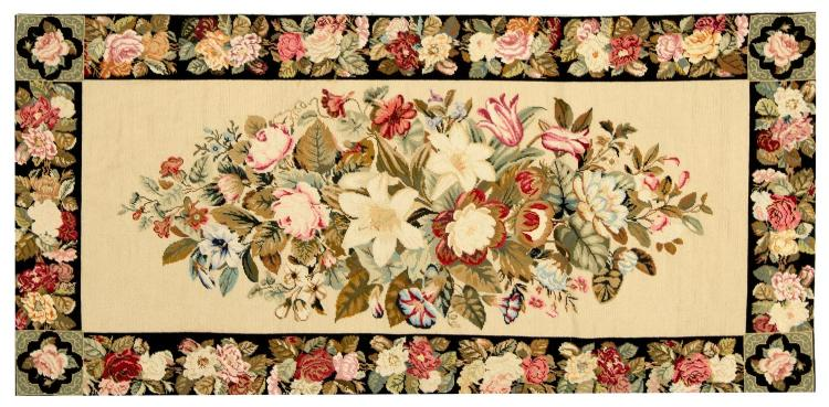 A needlework carpet, Mrs Monro