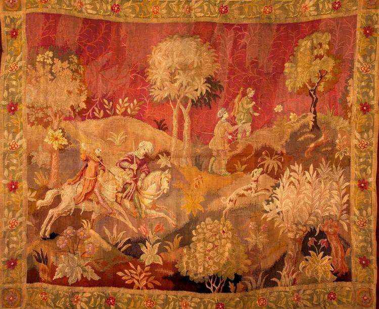 A needlework tapestry wallhanging