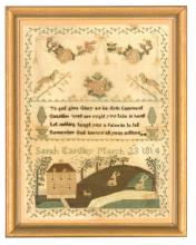 A needlework Sampler 'Sarah Eardley March 23rd 1814', English, 19th century