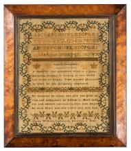A needlework Sampler 'Claire Wilkins, Guildford 1842', English, 19th century