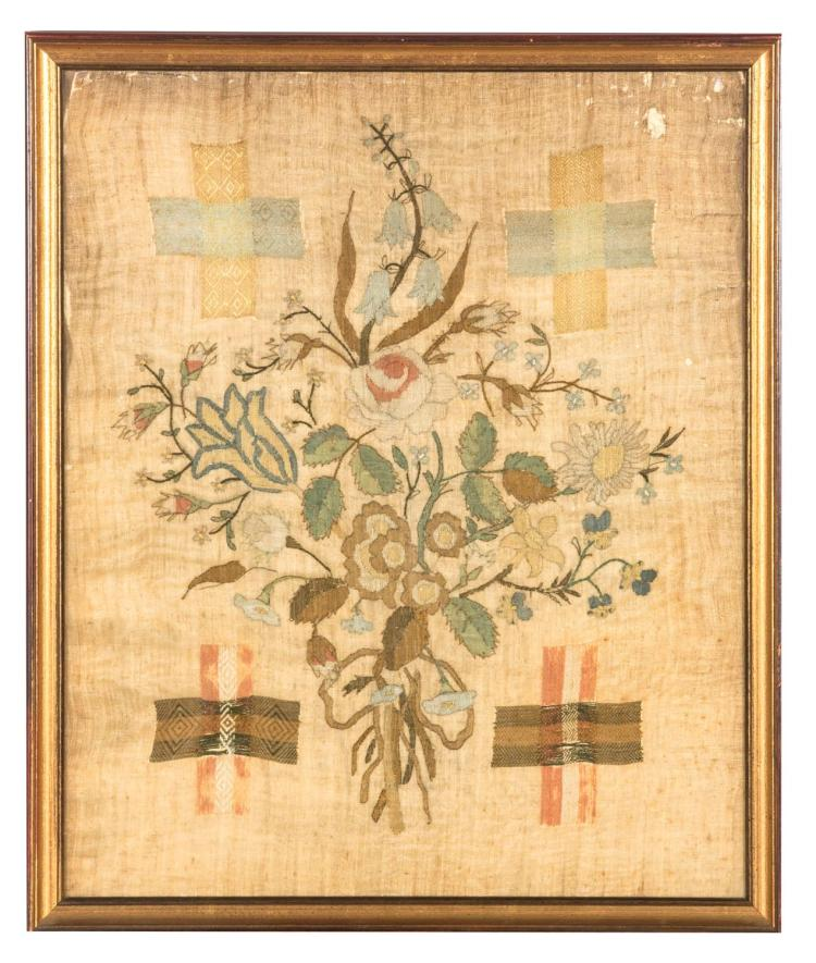 A Victorian darning sampler, English, 19th century