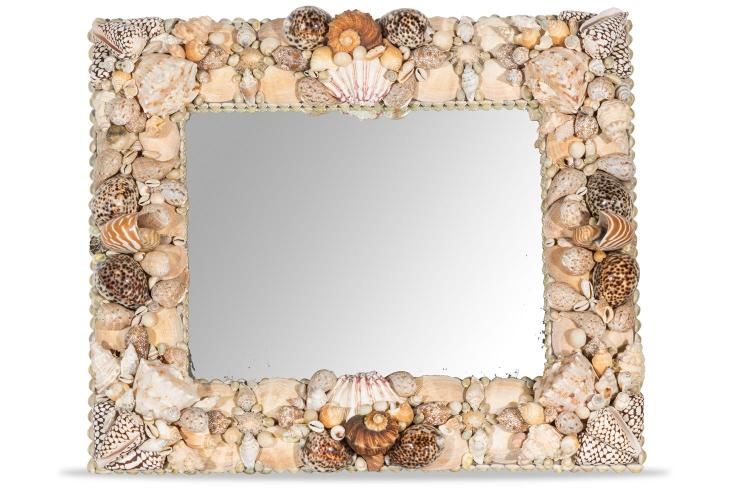 A large shell mirror by Paul Bruce