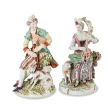 A pair of Derby figures, English, circa 1765