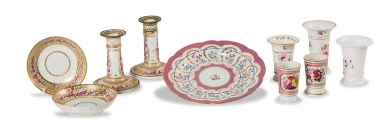 A collection of 10 pieces of decorative Victorian china, English, mid 19th century