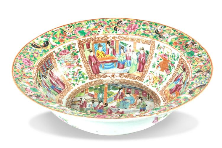 A large famille rose bowl, Cantonese, 19th century
