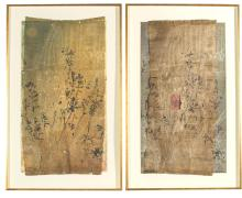 G W BOT (BORN 1964)Entrance II and Gardenmixed media on paper (diptych)93 x 51 cm (each)