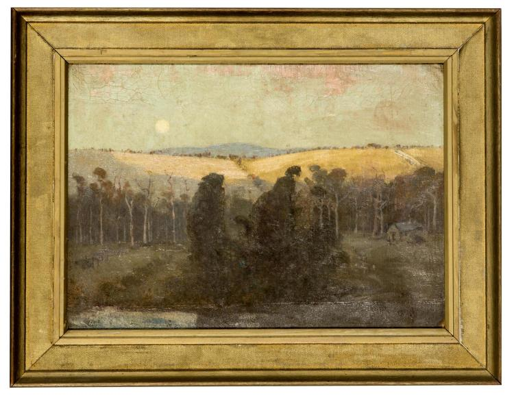 ALBERT HENRY FULLWOOD (1863 - 1930) Moonrise at Heidelberg, Victoria