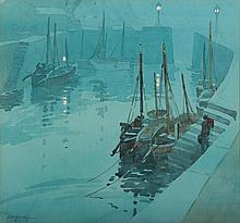 GEORGE AYLING (BRITISH, 1887-1960)  (Docked Boats)