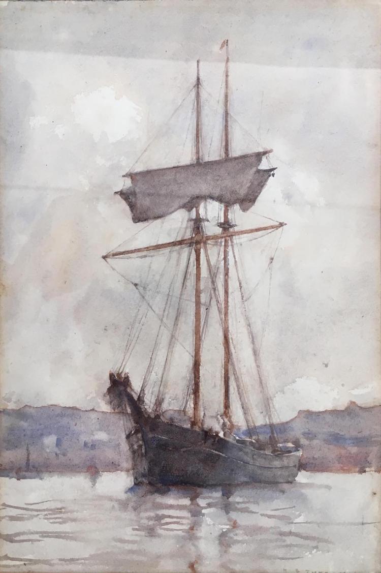 HENRY SCOTT TUKE (BRITISH, 1858-1929)  (Still Water), 1902