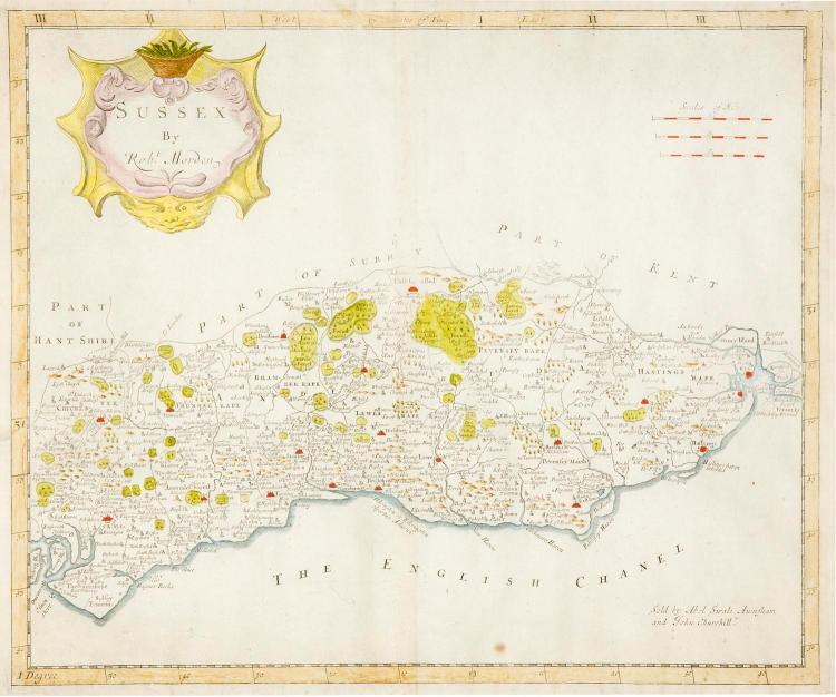 A Robert Morden map of Sussex