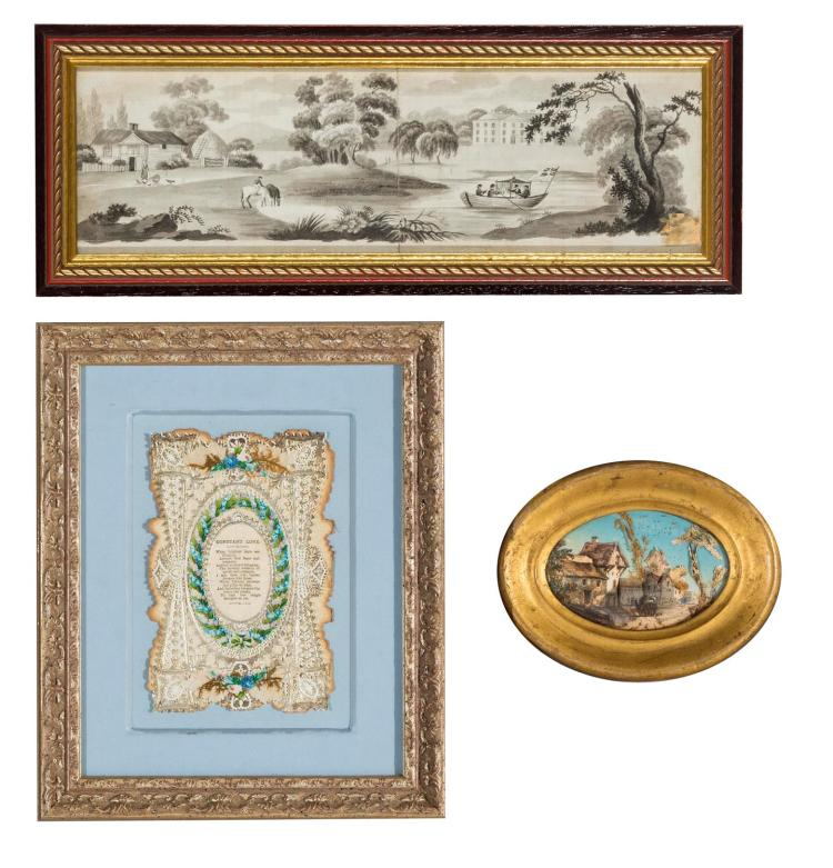 Three framed Victorian pictures