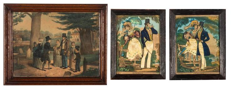 Three Victorian coloured prints, English, 19th century