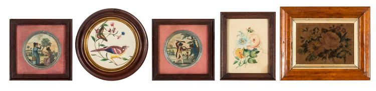 A collection of five Victorian pictures, English, 19th century