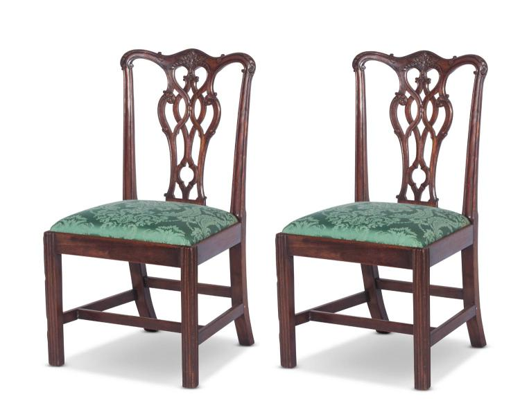 A pair of Georgian mahogany chairsEnglish 18th century