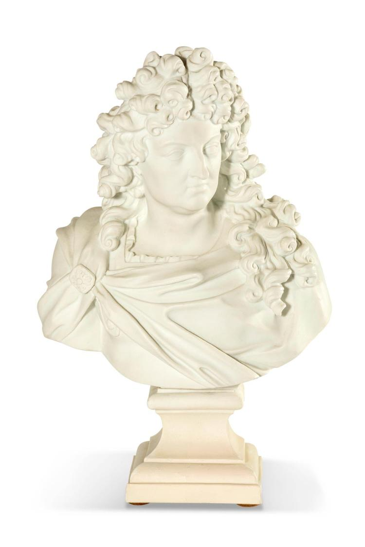A parrenware style bust,impressed inscription 'Girardon' 169920th century 35.5 cm high