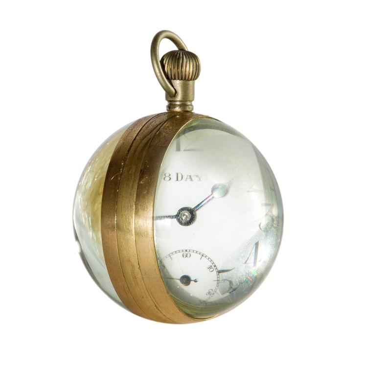 A French magnified desk clock
