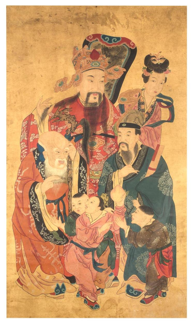 A Chinese ancestrol group portrait, 19th century164 X 98cm