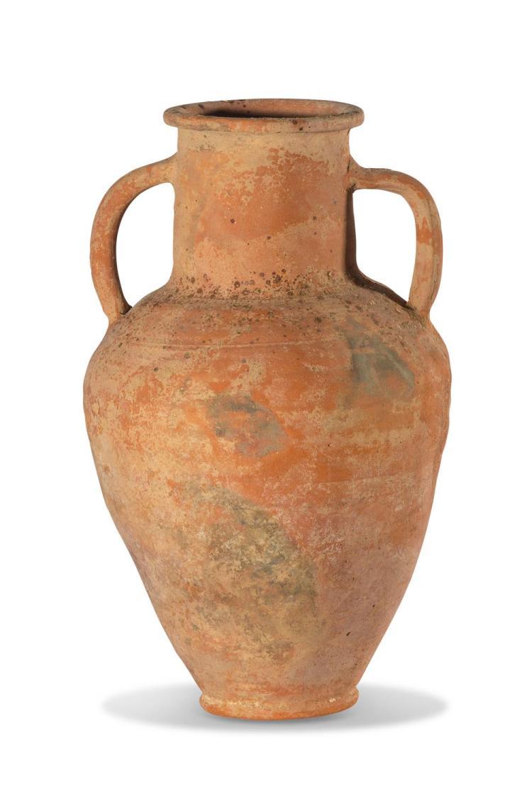 A Roman terracotta amphora