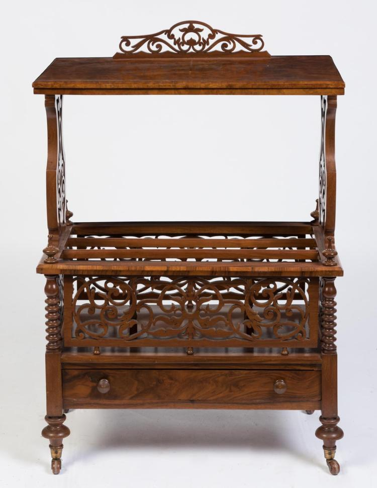 A Walnut Music Canterbury English 19th Century