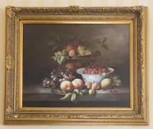 L CANDY (20TH CENTURY)Still Life with Fruit (pair)oil on canvassigned lower right: L CANDY50 cm x 60 cm