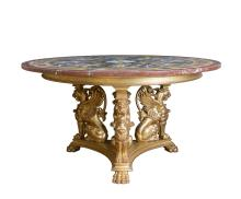 A finely carved Régence style giltwood centre table, late 19th century
