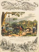 NEWS LETTER OF AUSTRALIASIA A Narrative to Send to Friends 1862 Mount Alexander, From Near the Railway Bark Canoes on the Murray River: