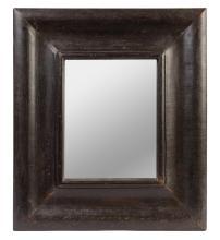 A rectangular hardwood framed mirror, 20th century