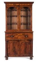 The Humphrey Gray Secretaire Bookcase, rare and important Australian Colonial Cedar, Tasmanian origin, circa 1835