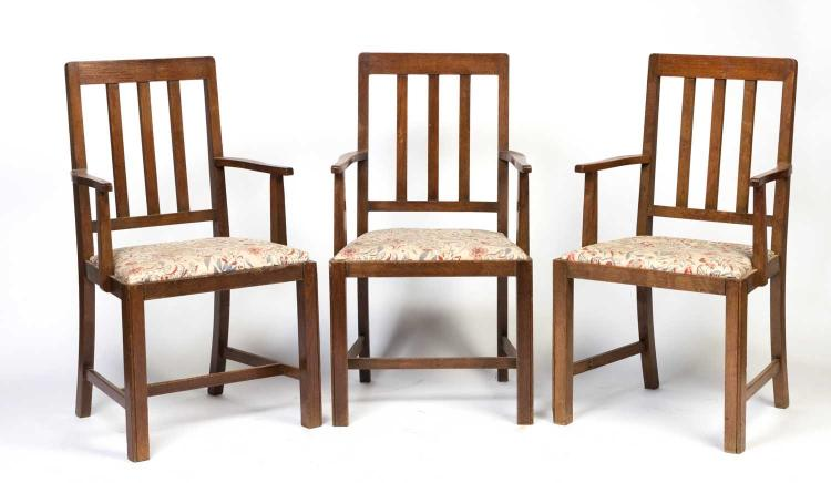 A Set Of Eight Oak Dining Chairs By Werring Amp Gillow Engl