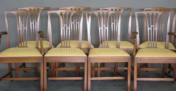 Chairs dining by biggs richmond va chippendale tie