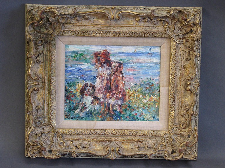 Paul Williams (American, b. 1934), Vanilla and Friends, Oil on Canvas, Signed Lower Left, Signed, Titled and Inscribed ''Weston, CT'' on Verso, 10'' H x 8'' W, $500-$700.