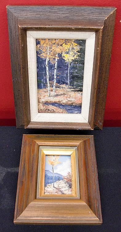 (2) Betty Jean Sabo (1928-? New Mexico) Miniature
