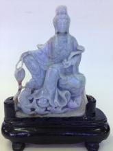 Antique Jadeite Buddha Statue