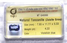 Certified Natural Tanzanite