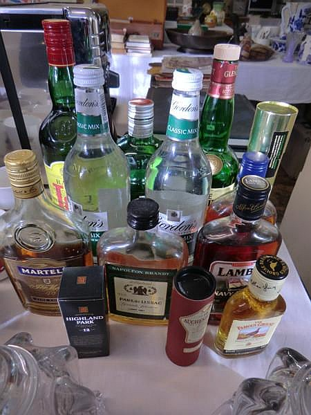 Collection of spirits and drink