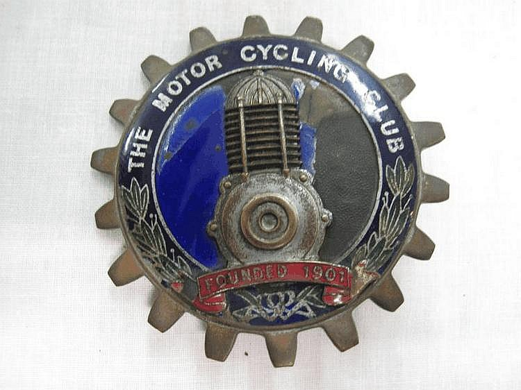 The Motor Cycling Club founded 1901 enamel badge.