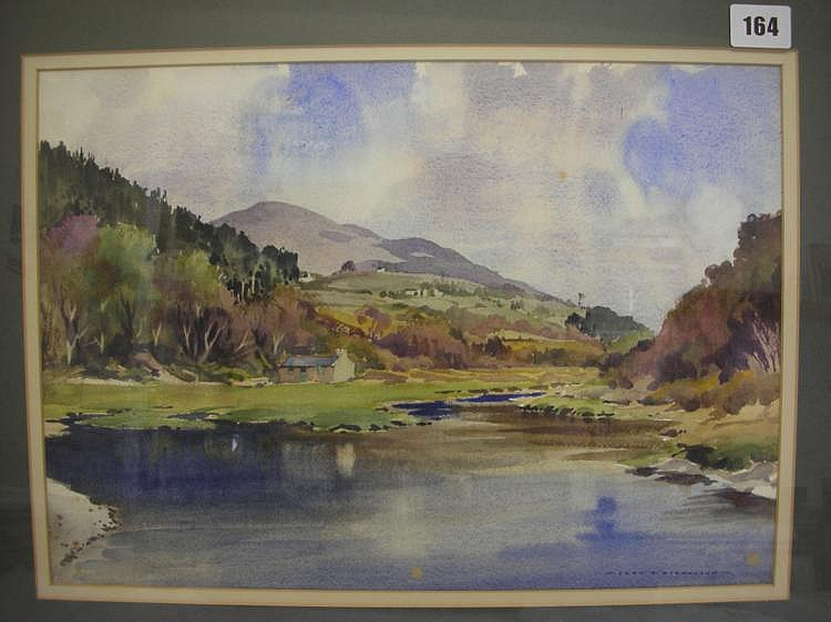 Nicholson, John H 'Cornaa' Watercolour Signed 11 x